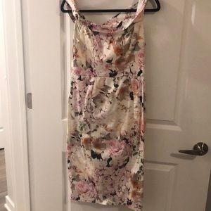 Off shoulder flowery dress